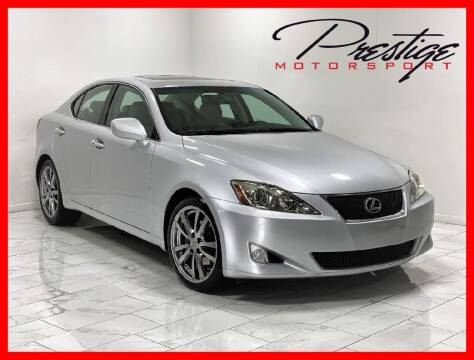 2008 Lexus IS 250 for sale at Prestige Motorsport in Rancho Cordova CA