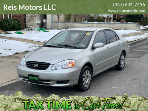 2003 Toyota Corolla for sale at Reis Motors LLC in Lawrence NY