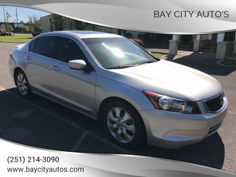2008 Honda Accord for sale at Bay City Auto's in Mobile AL