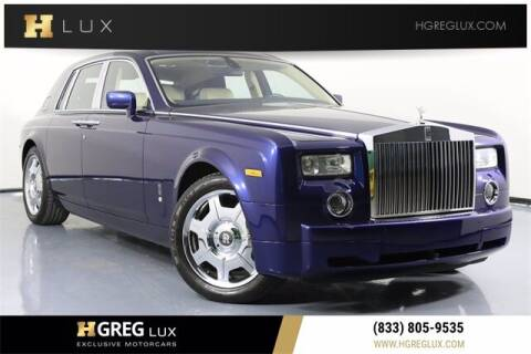2007 Rolls-Royce Phantom for sale at HGREG LUX EXCLUSIVE MOTORCARS in Pompano Beach FL