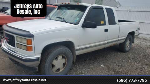 1997 GMC Sierra 1500 for sale at Jeffreys Auto Resale, Inc in Clinton Township MI
