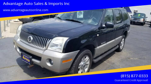 2002 Mercury Mountaineer for sale at Advantage Auto Sales & Imports Inc in Loves Park IL