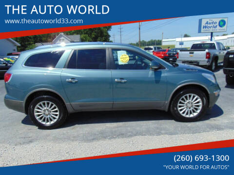 2009 Buick Enclave for sale at THE AUTO WORLD in Churubusco IN
