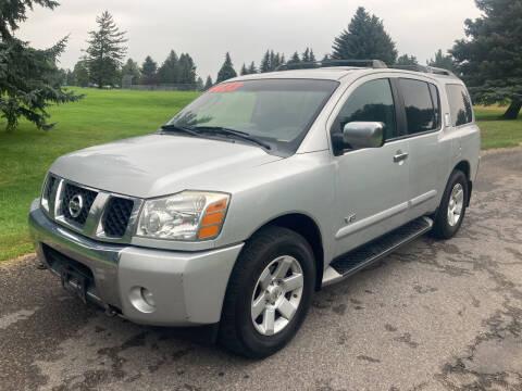 2005 Nissan Armada for sale at BELOW BOOK AUTO SALES in Idaho Falls ID