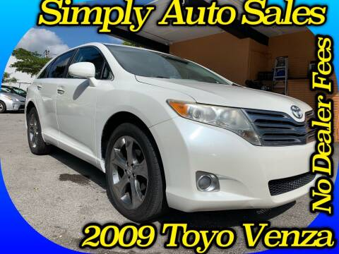 2009 Toyota Venza for sale at Simply Auto Sales in Palm Beach Gardens FL