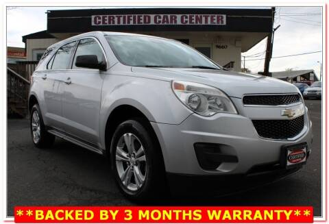 2013 Chevrolet Equinox for sale at CERTIFIED CAR CENTER in Fairfax VA