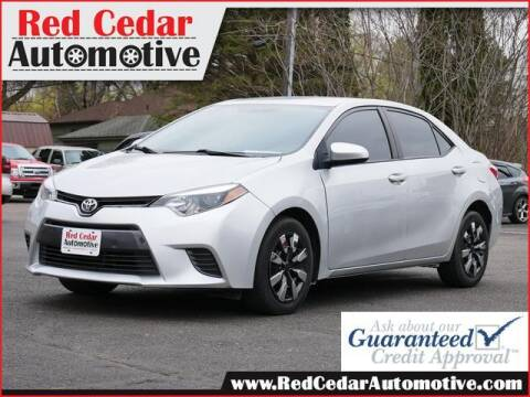 2015 Toyota Corolla for sale at Red Cedar Automotive in Menomonie WI