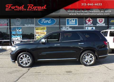 2016 Dodge Durango for sale at Ford Road Motor Sales in Dearborn MI