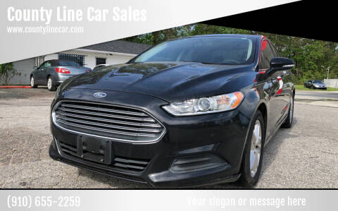 2013 Ford Fusion for sale at County Line Car Sales Inc. in Delco NC
