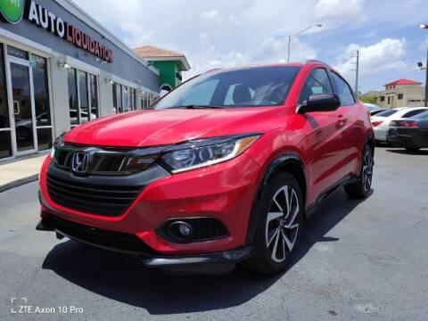 2019 Honda HR-V for sale at Start Auto Liquidation Center in Miramar FL