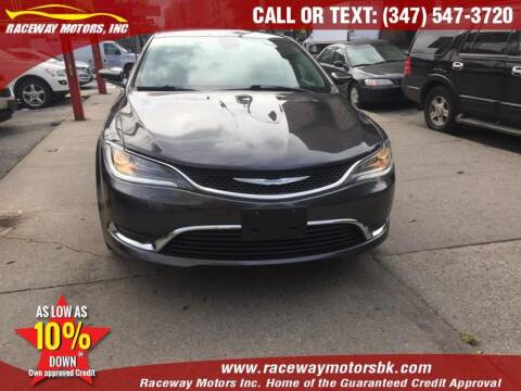2015 Chrysler 200 for sale at Raceway Motors Inc in Brooklyn NY
