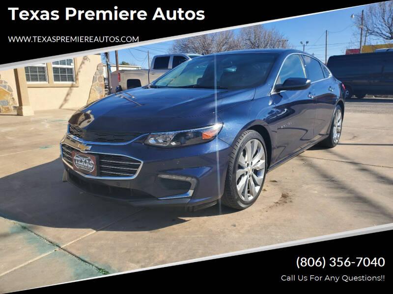 2017 Chevrolet Malibu for sale at Texas Premiere Autos in Amarillo TX