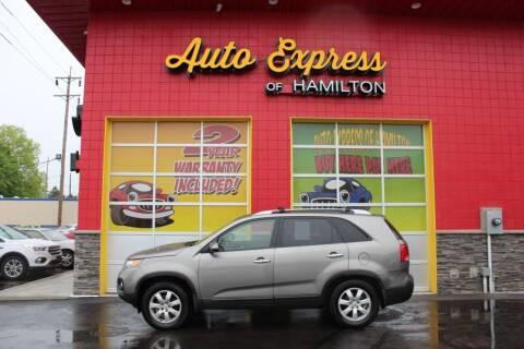 2011 Kia Sorento for sale at AUTO EXPRESS OF HAMILTON LLC in Hamilton OH