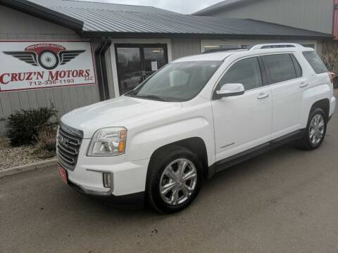 2016 GMC Terrain for sale at CRUZ'N MOTORS in Spirit Lake IA