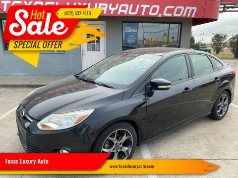 2014 Ford Focus for sale at Texas Luxury Auto in Cedar Hill TX