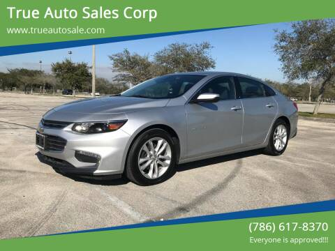 2017 Chevrolet Malibu for sale at True Auto Sales Corp in Miami FL