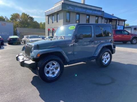 2014 Jeep Wrangler for sale at Sisson Pre-Owned in Uniontown PA