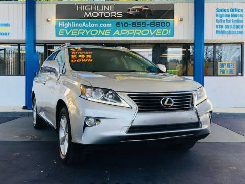 2013 Lexus RX 350 for sale at Highline Motors in Aston PA
