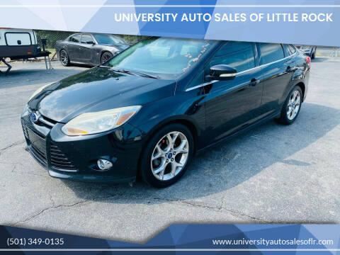 2012 Ford Focus for sale at University Auto Sales of Little Rock in Little Rock AR