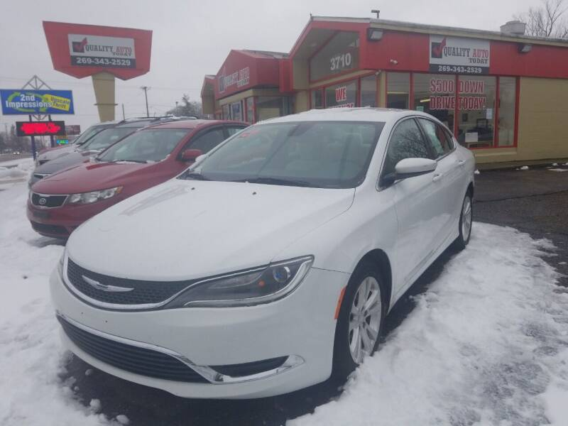2015 Chrysler 200 for sale at Quality Auto Today in Kalamazoo MI