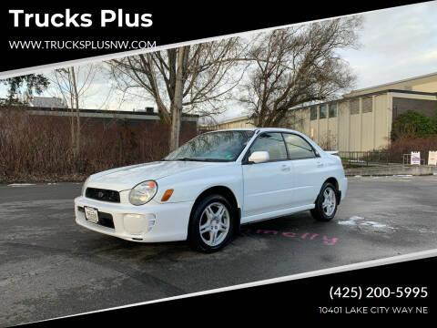 2003 Subaru Impreza for sale at Trucks Plus in Seattle WA
