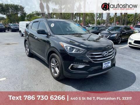 2017 Hyundai Santa Fe Sport for sale at AUTOSHOW SALES & SERVICE in Plantation FL