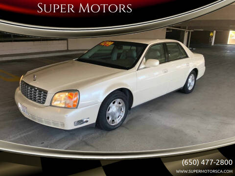 2002 Cadillac DeVille for sale at Super Motors in San Mateo CA