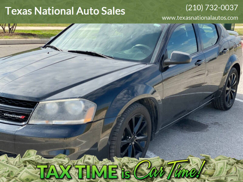 2014 Dodge Avenger for sale at Texas National Auto Sales in San Antonio TX