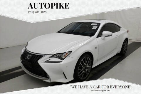 2016 Lexus RC 350 for sale at Autopike in Levittown PA
