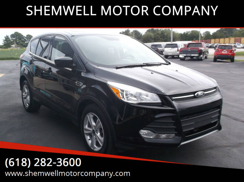 2016 Ford Escape for sale at SHEMWELL MOTOR COMPANY in Red Bud IL