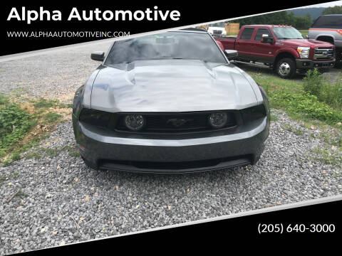 2010 Ford Mustang for sale at Alpha Automotive in Odenville AL