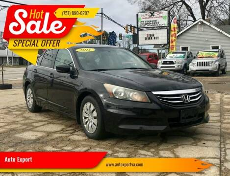 2011 Honda Accord for sale at Autoxport in Newport News VA
