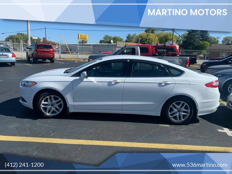 2014 Ford Fusion for sale at Martino Motors in Pittsburgh PA