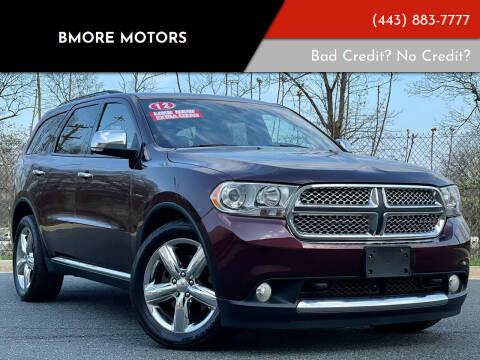2012 Dodge Durango for sale at Bmore Motors in Baltimore MD