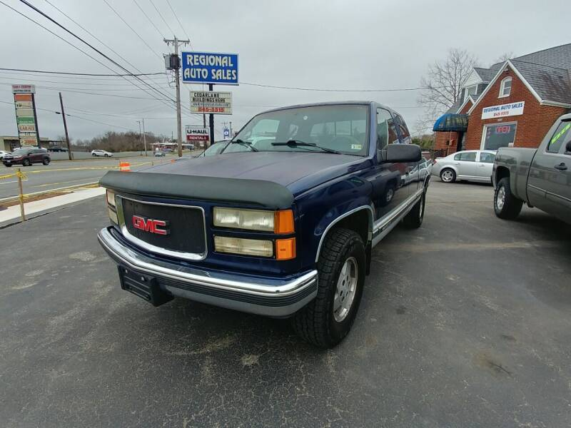 1995 GMC Sierra 1500 for sale at Regional Auto Sales in Madison Heights VA