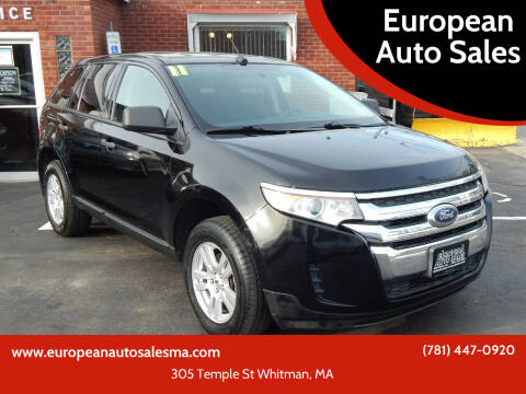 2011 Ford Edge for sale at European Auto Sales in Whitman MA