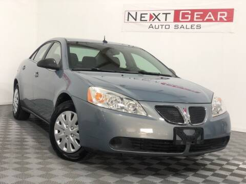 2008 Pontiac G6 for sale at Next Gear Auto Sales in Westfield IN