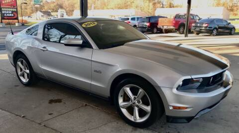 2012 Ford Mustang for sale at GABBY'S AUTO SALES in Valparaiso IN