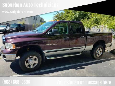 2005 Dodge Ram Pickup 2500 for sale at Suburban Auto Technicians LLC in Walpole MA