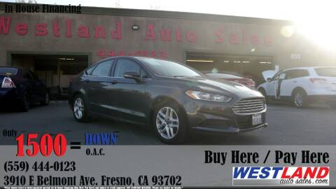 2016 Ford Fusion for sale at Westland Auto Sales in Fresno CA