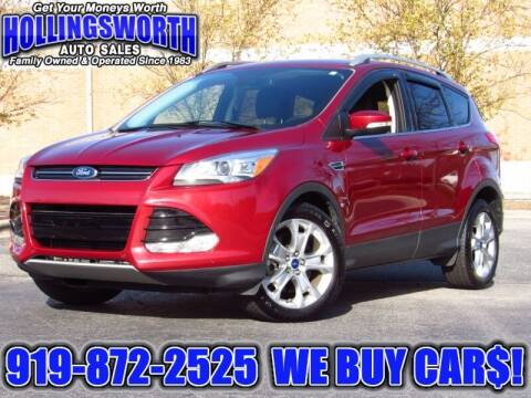 2015 Ford Escape for sale at Hollingsworth Auto Sales in Raleigh NC