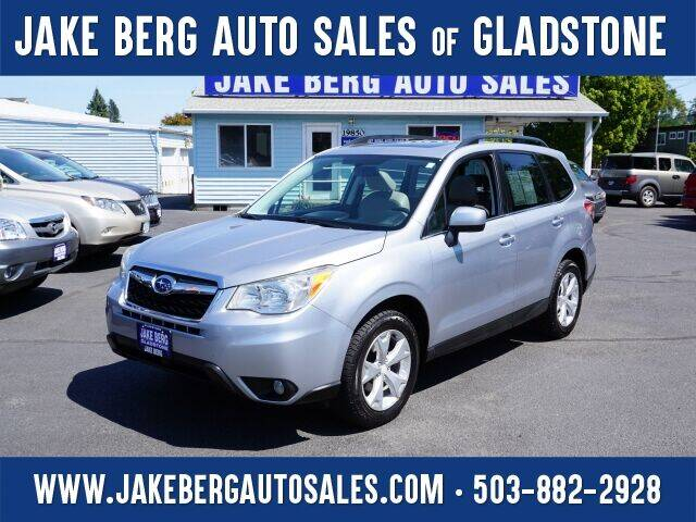 2015 Subaru Forester for sale at Jake Berg Auto Sales in Gladstone OR