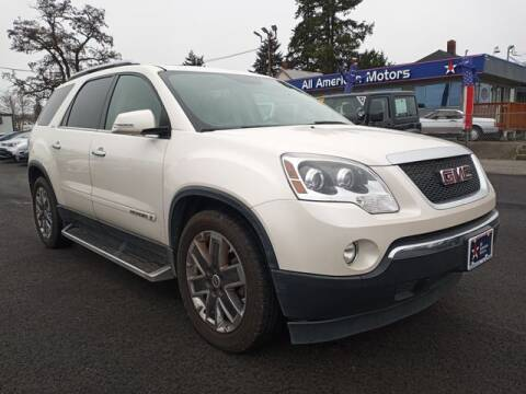 2008 GMC Acadia for sale at All American Motors in Tacoma WA