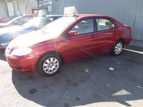 2004 Toyota Corolla for sale at Fulmer Auto Cycle Sales - Fulmer Auto Sales in Easton PA