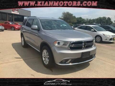 2019 Dodge Durango for sale at KIAN MOTORS INC in Plano TX
