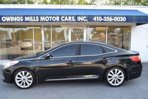 2012 Hyundai Azera for sale at Owings Mills Motor Cars in Owings Mills MD