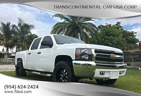 2013 Chevrolet Silverado 1500 for sale at Transcontinental Car USA Corp in Fort Lauderdale FL