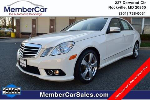 2010 Mercedes-Benz E-Class for sale at MemberCar in Rockville MD