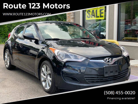 2016 Hyundai Veloster for sale at Route 123 Motors in Norton MA