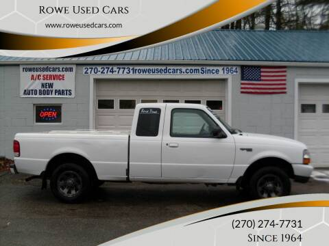 2000 Ford Ranger for sale at Rowe Used Cars in Beaver Dam KY
